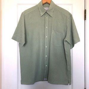 Ted Baker London Men's Short Sleeve Shirt Green